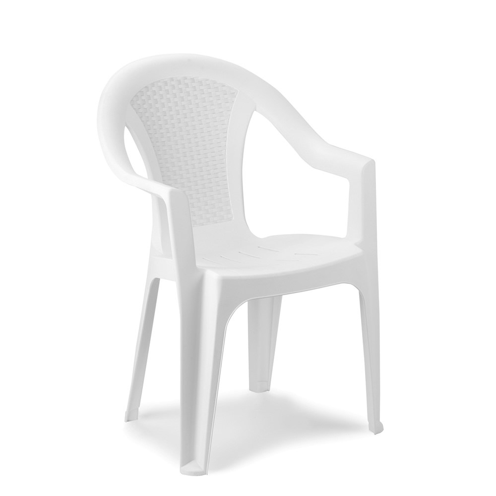 Krzeslo Ogrodowe Plastikowe Biale 042981110